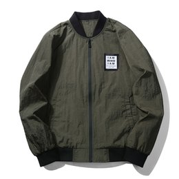 New Brand Clothing Casual Bomber Flight Jacket Male Windproof Zipper Loose  Mens Jacket Army Green Black Gray Coat 29ace90b954