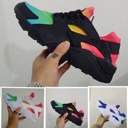 Discount cheap huaraches shoes - Rainbow Huaraches sports shoes for men & women blue black white pink lightweight breathable huraches athletic running fo