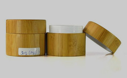 Wholesale 50g bamboo jars for comestic ceramic wax with PP inner painting logo containers hot new product manufacturer