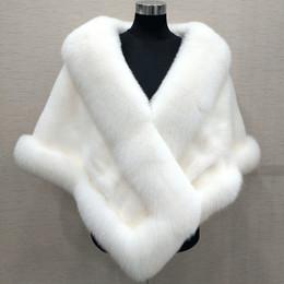 10 Colores Órdenes Mixtas Otoño invierno 2018 más nuevo largo de piel sintética de zorro nupcial Wraps vestido de noche mantón bufanda fiesta femenina cóctel