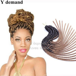 DreaDlocks weave hair online shopping - Soft Crochet Dreadlocks Braids Dreadlock Extensions inch roots Weaving Softex Faux Locs Crochet Braids Hair Soft Dread Hair Y demand