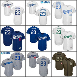 877fcb085 MLB Jersey Cheap Men Los Angeles Dodgers 23 Kirk Gibson Baseball Jersey  Flexbase Dodgers 34 Fernando Valenzuela White New Cool Base Stitched ...