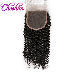 $enCountryForm.capitalKeyWord Australia - Choshim 4x4 Kinky Curly Lace Closure Human Hair for black woman Natural Color Brazilian Remy Hair Free Part Bleached Knots With Baby Hair