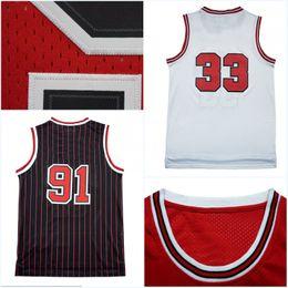 1e2524f028a ... online,Wholesale Mens Retro Scottie Pippen 33 Jersey Dennis Rodman 91  Cheap Throwback Basketball Jerseys 100% Stitched ...