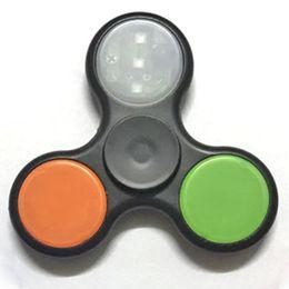 fluorescent toys wholesale 2019 - Finger tip, fluorescent, children's toys, luminous EDC bearings, three finger spin, finger top, noctilucent, Americ