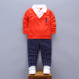 $enCountryForm.capitalKeyWord Australia - Baby Boy Clothes Sets Gentleman rompers +pants Suit Long Sleeve Kids Boy Clothing