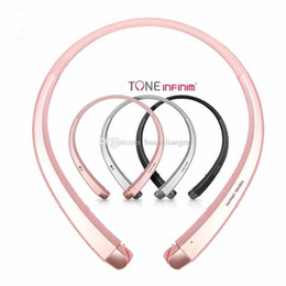 Wholesale lg tone infinim bluetooth headset resale online - HBS910 TONE INFINIM upgrade Version HBS900 Wireless HBS Collar Headset Bluetooth HBS910 Sports Headphones With soft Retail Package