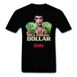 Chinese  Pop Art Scarface Al Pacino Get Every Dollar 100% Cotton Cool T-Shirts Fashion Graphic Tee Fitness manufacturers