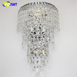 lustre bar 2020 - FUMAT K9 Crystal Wall Lamp Sconces Modern Brief Living Room Bed Room Wall Lights Bar Hotel Project Lustre LED Crystal Wa