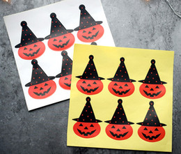 $enCountryForm.capitalKeyWord NZ - Halloween sticker hat pumpkin decoration seal label gift stickers candy bag decorative sealing paster party supply kids favors