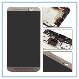 touch digitizer glass screen assembly Canada - LCD Display for HTC One M9 LCD Screen Touch Digitizer Glass Frame Complete Assembly Repair Pantalla Gold Siver Gray Free Shipping