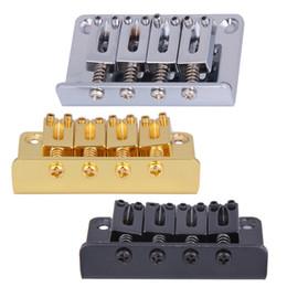 $enCountryForm.capitalKeyWord Australia - Chrome 4 String Vintage Bass Bridge for Electric Bass Guitar Ukulele Black  Silver  Golden Guitar Parts and Accessories