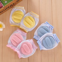 $enCountryForm.capitalKeyWord Canada - Wholesale- 1Pair Newest Baby Knee Pads Crawling Toddler Kid Boy Girl Elbow Protective Safety Mesh