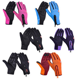 full fingered motorcycle gloves wholesale NZ - 6 Colors Women Men Winter Outdoor Cycling Gloves - Full Finger Bicycle Gloves Anti Slip Gel Pad Motorcycle MTB Road Bike Gloves S-XL