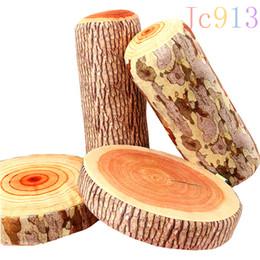 $enCountryForm.capitalKeyWord Canada - Jc913 Luminous Pillow Block Growth Rings Creative Simulation Tree Waist Cotton Cushion for Leaning Short Plush Toy Gift