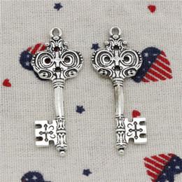$enCountryForm.capitalKeyWord NZ - Wholesale- 65pcs Charms vintage skeleton key 19*52mm Pendant, Tibetan Silver Pendant, For DIY Necklace & Bracelets Jewelry Accessories