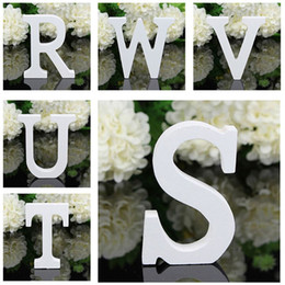 alphabet party decorations UK - 8x5x1.2cm New A-Z Wooden Wood Letters Alphabet Word Free Standing Wedding Party Home Decoration