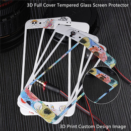 Logo For Iphone Canada - 3D Print Custom Design Personalized Image Logo Colorful Full Cover Tempered Glass Screen Protector for Iphone 6,6s,7,8 & Plus--YH0172