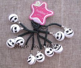 $enCountryForm.capitalKeyWord Canada - Wholesale Lot Cartoon Nightmare Before Christmas Charms Bell Pendant With Strap Cellphone Key Chains Toy pendant