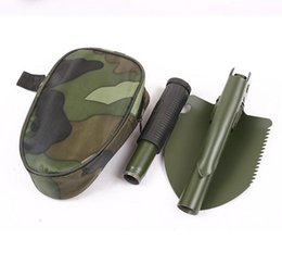 emergency spades 2020 - Mini Multi-function Folding Shovel Survival Trowel Dibble Pick Outdoor Emergency Rescue spade Practical Hiking Camping G