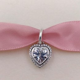 Valentine heart jewelry online shopping - Valentines Day Gift Sterling Silver Beads Heart Silver Pendant Fits European Pandora Style Jewelry Bracelets Necklace CZ Dangle