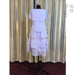 0336f59a4b0 Ghands New Cheap JJShouse A-Line Chiffon Bateau Cascading Ruffles Knee- Length Elegant Plus Size Wedding Guest Bridesmaid Dresses Custom Size