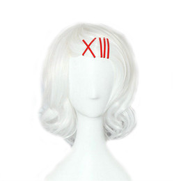 Wholesale tokyo ghoul cosplay costumes for sale - Group buy WoodFestival juuzou suzuya wig costume tokyo ghoul white wig short cosplay heat resistant japanese anime wigs synthetic hair wigs bangs