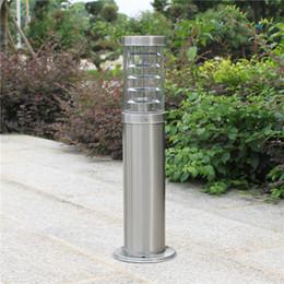 Lawn Lamp post online shopping - outdoor pole rod bollard light column post lamp LED modern stainless steel waterproof outdoor lawn light lamp
