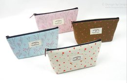 $enCountryForm.capitalKeyWord Canada - New Flower Floral Pencil Pen Canvas Case Cosmetic Makeup Tool Bag Storage Pouch Purse Cosmetic Bags Organizer bags Free DHL