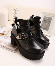 Discount Chunky Platform Black Ankle Boots | 2017 Black Chunky ...