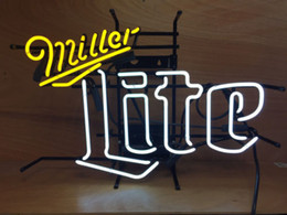 "orange tube lights NZ - 17""x14"" Miller LITE NEW CUSTOM REAL GLASS TUBE NEON LIGHT BEER BAR PUB STORE SIGN SIGNAGE"