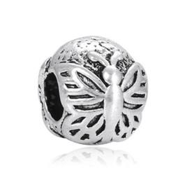 3cc8d151b australia fits pandora bracelets 30pcs butterfly round silver charm beads  charms for wholesale diy european necklace