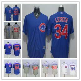 ee6c7462629 ... White Stitched Mens Chicago Cubs Jersey 34 Jon Lester 53 Trevor Cahill  54 Aroldis Chapman Cool Base ...