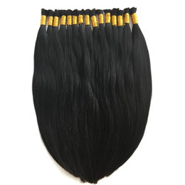 Chinese  8A Micro mini Braiding Hair Brazilian Bulk Hair For Braiding One Bundle Lot 100% Human Straight Brazilian Braiding Hair manufacturers