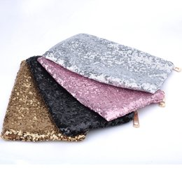 sexy ladies handbags NZ - Wholesale- Sexy Lady Evening Club Bags Dazzling Women Handbag Glitter Bling Sequins Women Clutch Comestic Makeup Bag