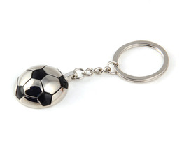 keying chain UK - 2017 Sports Soccer Football Metal Decorative Accessories For Jewelry Keychain Pendant Keyring Key Holder Chain Ring