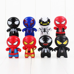 $enCountryForm.capitalKeyWord Canada - Adorable Marvel Super Hero Toy Spider-man The Amazing Spiderman Keychain Soft Plastic Mini Hero Key Chain Pendant Keyring