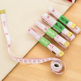 Ingrosso 50 pz / lotto hotsale 1.5 m lunghezza morbido nastro di plastica misure cucito sarto righello strumenti di misura di misurazione spedizione gratuita