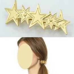 Haarspangen Haarspangen Haarspangen Clip für Frauen Mädchen Haarschmuck Kopfbedeckungen Halter Bun Bang Vintage Sterne Frühling Design im Angebot