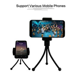 Metal Support Stands Canada - Universal Flexible Mini Tripod Phone Holder Bracket Adapter Holders Stand Monopod For Iphone 6 Digital Camera Support For Iphone 7 6S 5 Plus