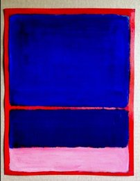 rothko paintings Australia - High Quality Home Decor,Pure Hand Painted Mark Rothko Modern Abstract Wall Art Oil Painting On Canvas.Multi Sizes MR3