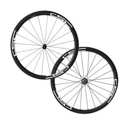 tubeless bicycle 2019 - Superlite Powerway R36 Hub 38mm Tubuless Road Bike Wheelset 25mm Width Road Bicycle Wheels New Arrival 700C Full Carbon