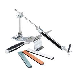 Venta al por mayor de Afilador de cuchillos RUIXIN PRO III Profesional Sistema de afilado de cocinas de acero y hierro, con ángulo de fijación con 4 piedras Piedra de afilar III