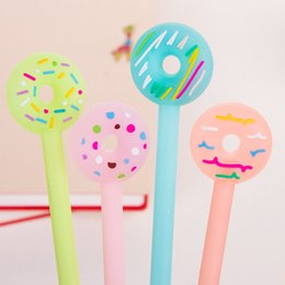 $enCountryForm.capitalKeyWord Australia - 36 Pcs Lot Cute Donuts Gel Pens Novelty Candy Pen for Signature Kids Stationery Office Accessories School Supplies Escolar
