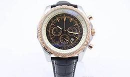 Mens swiss chronograph luxury watches online shopping - Luxury Brand Mens Winding Dezel Stainless Steel Watch Mens Black Belt Watches Swiss Mens Wristwatch with Calendar
