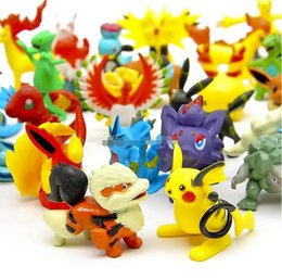 Pokemon Wholesale Figure Australia - Poke Action Figures Multicolor about 6CM 2inch mini cartoon children DIY toys Pikachu Model Decoration DHL shipping L001