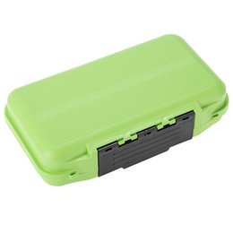 Barato Plástico 24 Compartimentos-ABS Plástico Waterproof Large Fly Box Case para Outdoor 24 Compartimentos Big Fishing Tackles Storage Box 20cm * 11.5cm * 5cm Verde