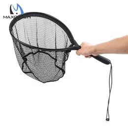 Nylon Pliers NZ - Wholesale- Maxcatch Fly Fishing Landing Net Flat Bottom Nylon Fishing Landing Net Fishing Net