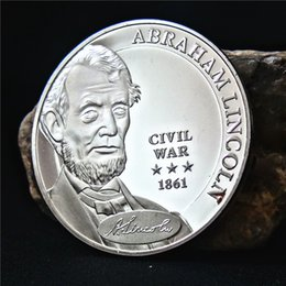 Coin Lincoln NZ - USA President Abraham Lincoln Civil War Silver Plated Commemorative Coin