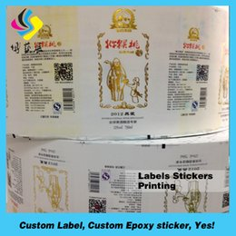 Round Stickers Roll Australia - Top quality custom round paper logo label sticker, colored seal sticker printing, circular logo sticker roll